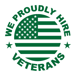 Proudly hire veterans